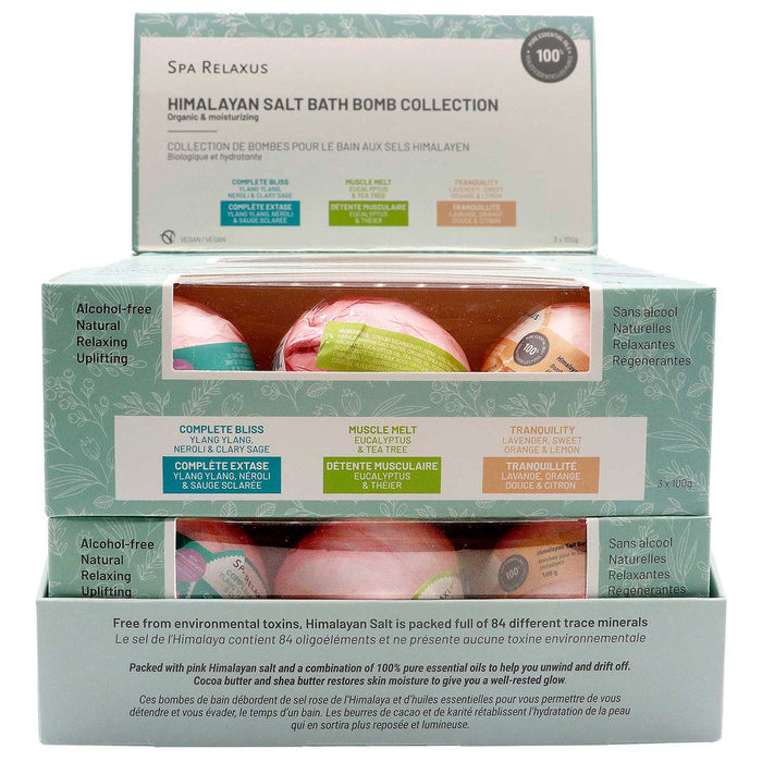 Wholesale Himalayan Salt Bath Bombs 3 Piece Gift Set
