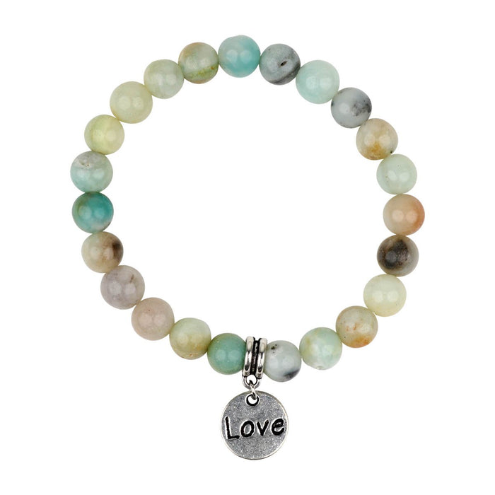 Amazonite Bracelet heart/love