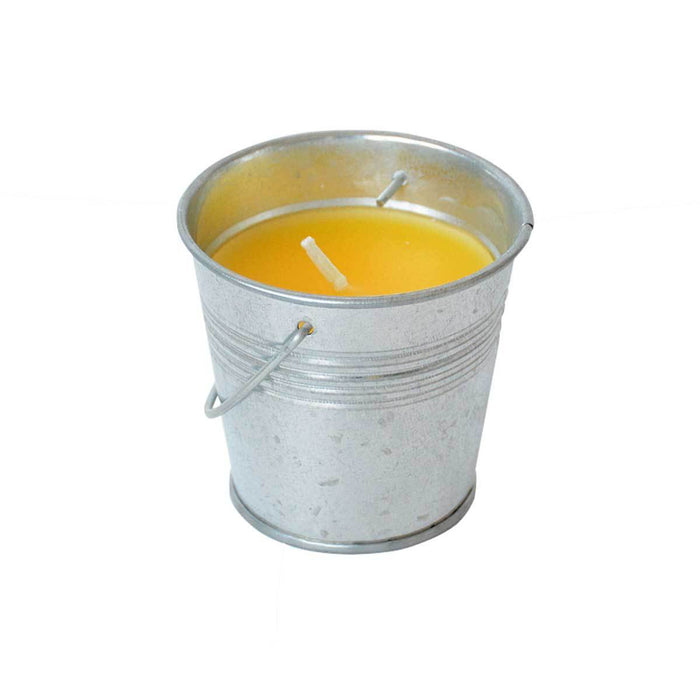 Wholesale Peppermint Citronella Infused Candle In a Metal Bucket Prepack of 12