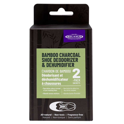 Wholesale Bamboo Charcoal Shoe Deodorizer Sachets (Set of 2) Displayer of 12