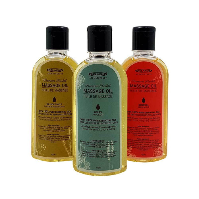 Wholesale Premium Herbal Body Massage Oils Displayer of 12