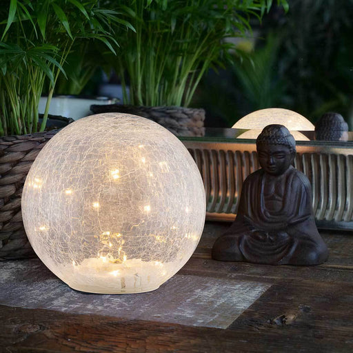 Wholesale Faerie LED Crackle Glass Globe