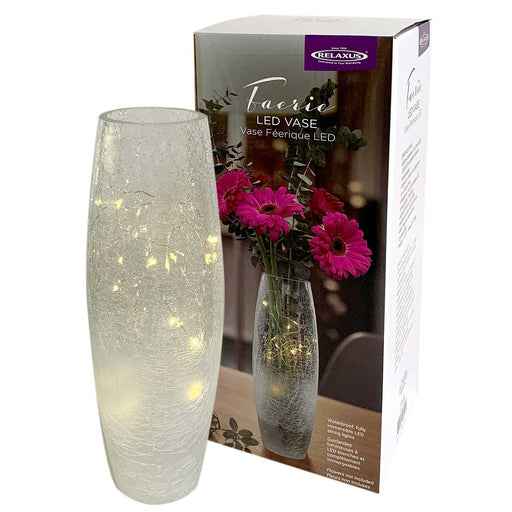 Wholesale Faerie LED Crackle Glass Vase