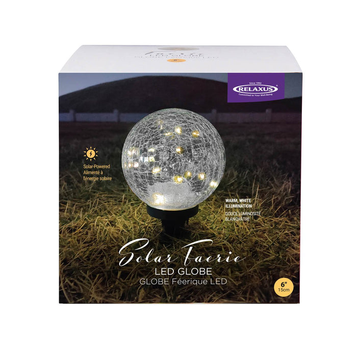 Solar Faerie LED Globe (15 cm) box