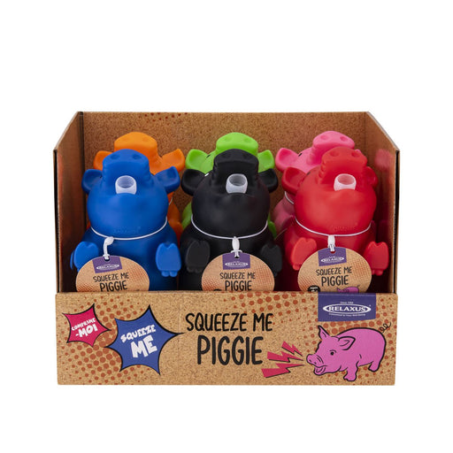 Wholesale Squeeze Me Piggy Novelty Toy Displayer of 6