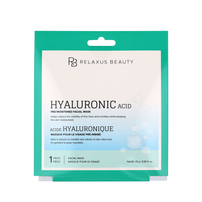 Wholesale Hyaluronic Acid Pre-Moistened Facial Mask - Displayer of 12