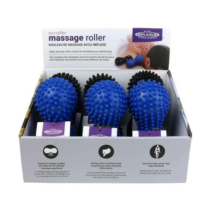Wholesale Spiky Massage Rollers displayer