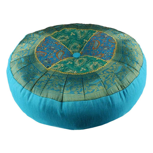 Wholesale Blue Agra Meditation Cushion