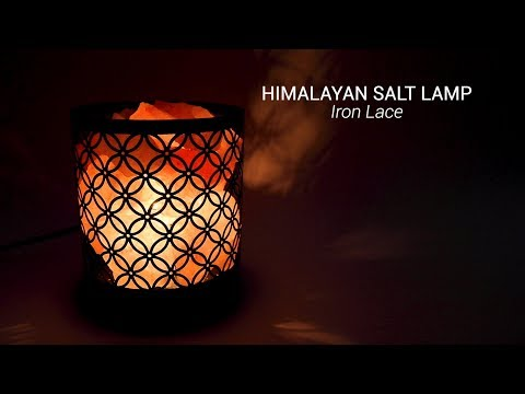 Wholesale Himalayan Salt Lamp Wrought Iron Design