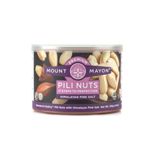 Mount Mayon Premium Pili Nuts Himalayan Pink Salt 130grams