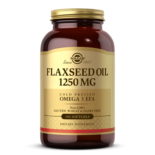 Solgar Flaxseed Oil 1,250mg 100 Softgels