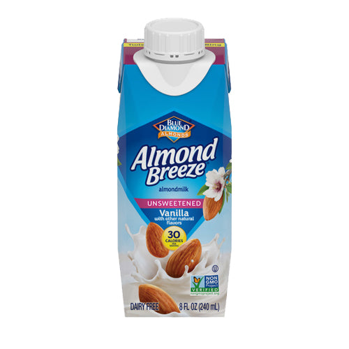 Almond Breeze Unsweetened Vanilla Almond Milk 240ml