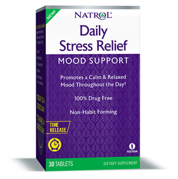 Natrol Daily Stress Relief Mood Support Time Release 30 Tablets
