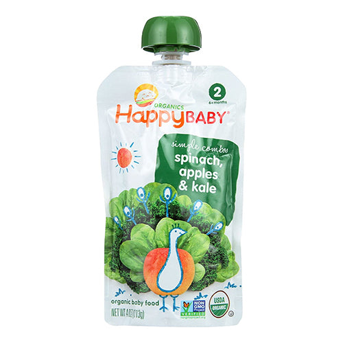 Happy Baby Simple Combos Spinach, Apples, & Kale 113g