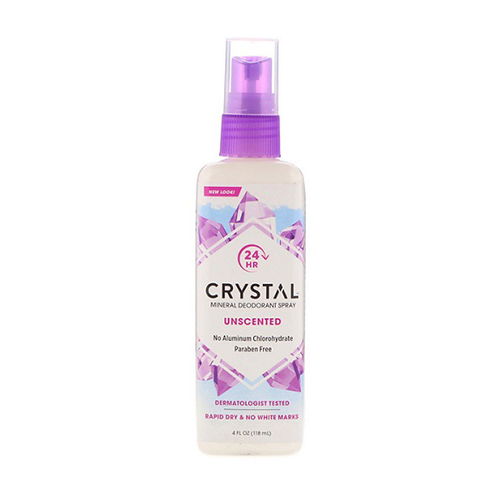 Crystal Body Unscented Mineral Spray Deodorant 118ml