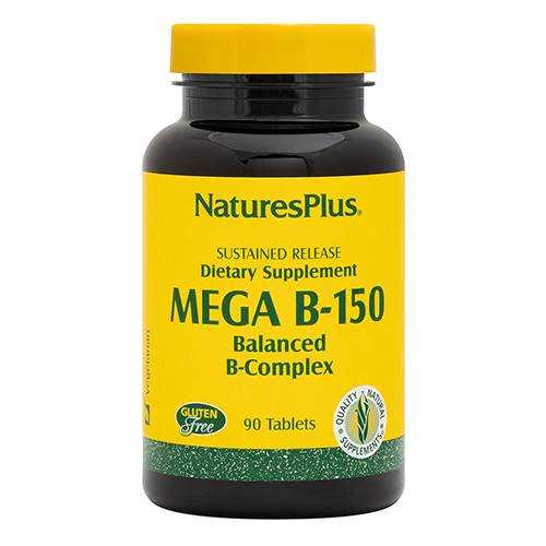 Nature's Plus Sustained Release Mega B-159 Balanced B Complex 90 Tablets