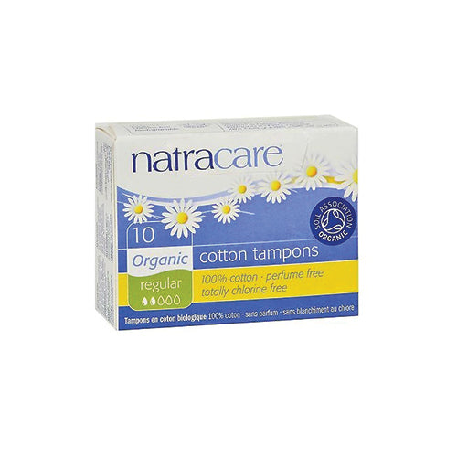 Natracare Organic Cotton Tampons Regular Non-Applicator 10ct