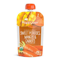 Happy Baby Clearly Crafted Sweet Potatoes, Mangos, & Carrots 113g