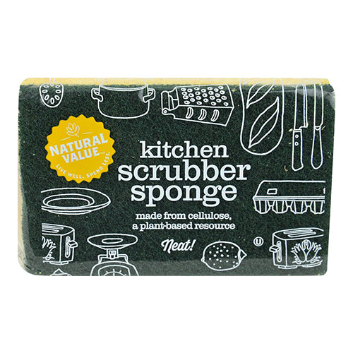 Natural Value kitchen Scrubber Sponge 1 Count