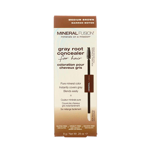 Mineral Fusion Gray Root Concealer, Medium Brown