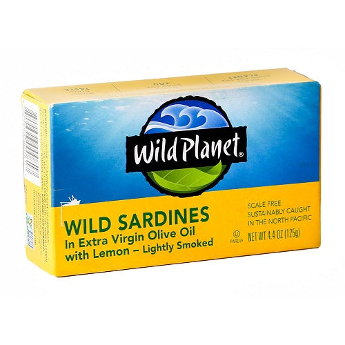 Wild Planet Wild Sardines in Extra Virgin Olive Oil with Lemon 125g