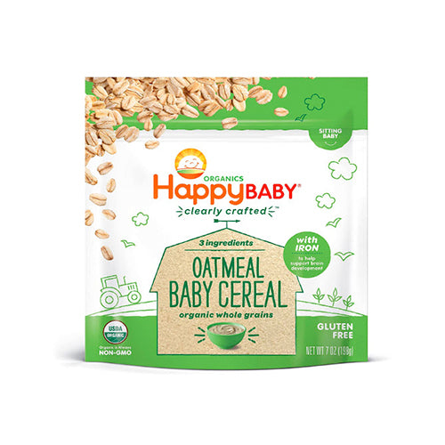 Happy Baby Organic Clearly Crafted Oatmeal Baby Cereal 198g