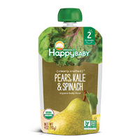 Happy Baby Clearly Crafted Pears, Kale & Spinach Stage 2 113g