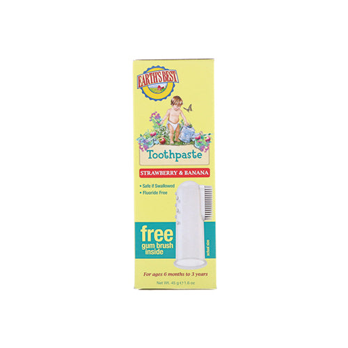Earth's Best Toddler Toothpaste Strawberry Banana 45g