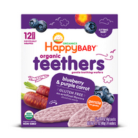Happy Baby Organic Teethers Blueberry & Purple Carrot 48g