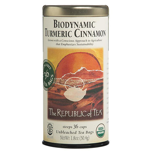 Republic of Tea Biodynamic Turmeric Cinnamon 36 tea bags