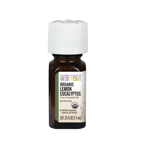 Aura Cacia Organic Lemon Eucalyptus Pure Essential Oil 7.4ml