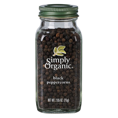 Simply Organic Black Peppercorns 75g