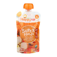 Happy Baby Super Foods Apples, Sweet Potato, Carrots & Cinnamon + Super Chia 120g