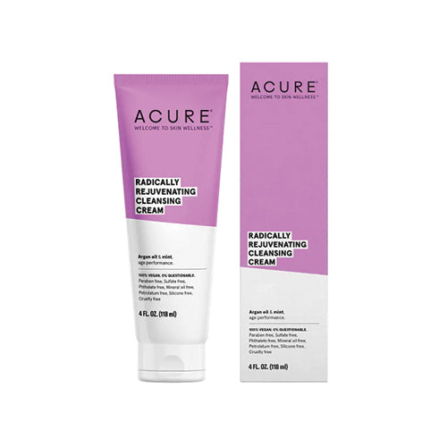 Acure Radically Rejuvenating Cleansing Cream Argan Oil & Mint 118ml