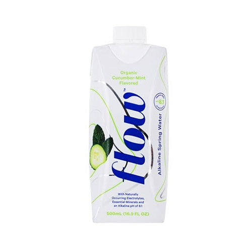 Flow Alkaline Spring Water Organic Cucumber-Mint Flavored 500ml