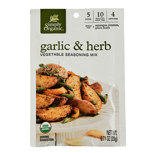 Simply Organic Garlic & Herb Vegetable Seasoning Mix 20g