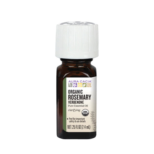 Aura Cacia Organic Rosemary Verbenone Pure Essential Oil 7.4ml