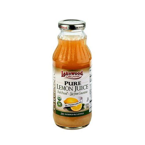 Lakewood Organic Pure Lemon Juice 370ml