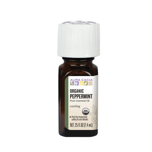Aura Cacia Organic Peppermint Pure Essential Oil 7.4ml