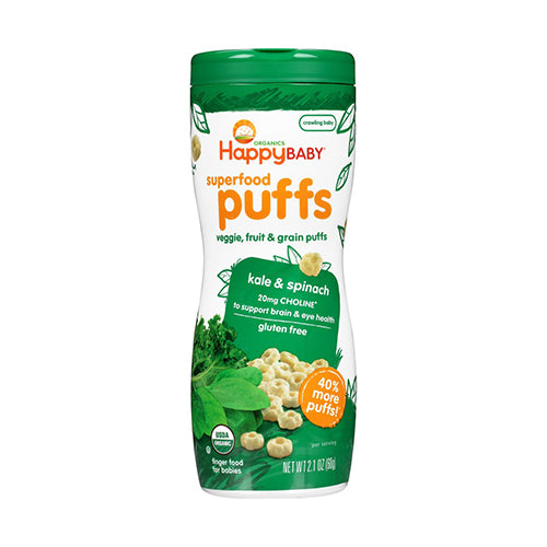 Happy Baby Puffs Kale & Spinach 60g