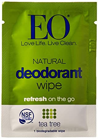 EO Organic Tea Tree Deodorant Wipes 1 Sachet