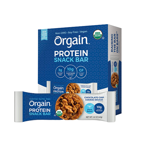 Orgain Protein Snack Bar Chocolate Chip Cookie Dough 40g