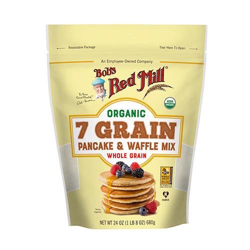 Bob's Red Mill Organic 7 Grain Pancake & Waffle Mix 680g