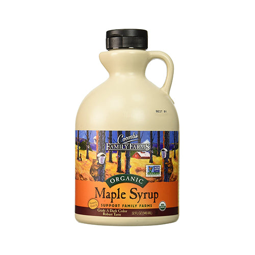Coombs Organic Maple Syrup Grade A Dark Color Robust Taste 946mL