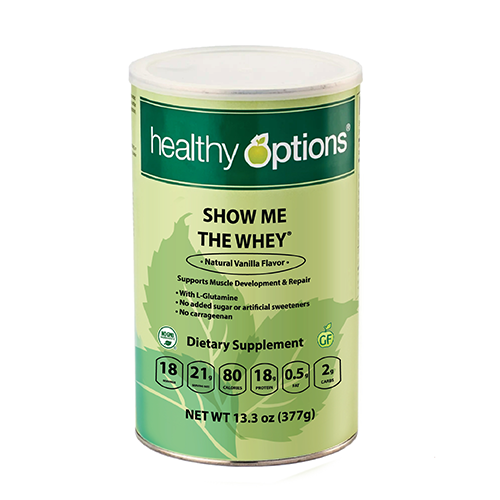 Healthy Options Show Me The Whey® Natural Vanilla Flavor 377 grams