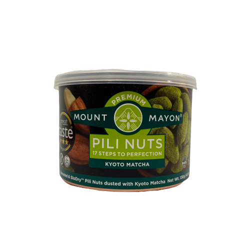 Mount Mayon Premium Pili Nuts Kyoto Matcha 130grams