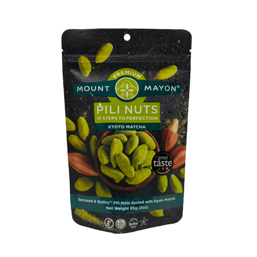 Mount Mayon Premium Pili Nuts Kyoto Matcha 85grams