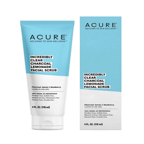Acure Incredibly Clear Charcoal Lemonade Facial Scrub 118ml