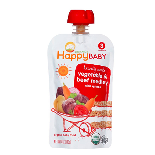 Happy Baby Vegetable & Beef Medley Stage 3 113g