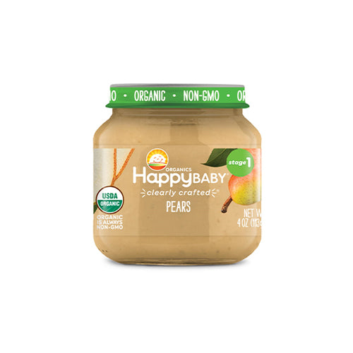 Happy Baby Clearly Crafted Pears Jar Stage 1 113g